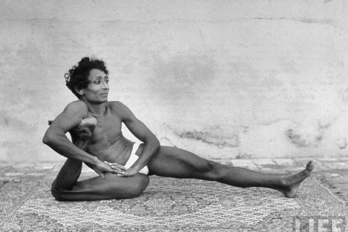 Indian Man Practicing-Yoga LIFE Magazine May 1949
