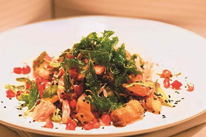 Crispy Pork Belly Salad at Bomras