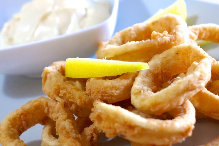 Fried Calamari at Café Nu, Goa