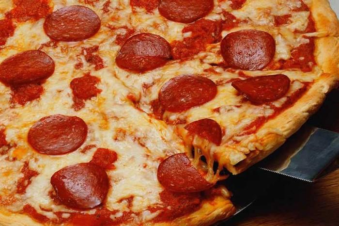 Pepperoni Pizza at Fellini's Italian Restaurant & Pizzeria, Goa
