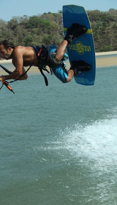 Rahul Malaney kitesurfing.