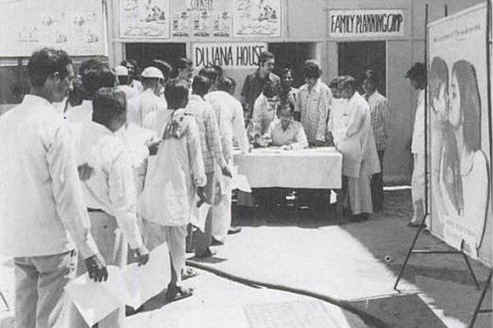 Men register their names for vasectomy at Dujana House Family Planning Clinic in Old Delhi, 6 Sep, 1976. Image & Caption Source: PD-PIB New Delhi / Unsettling Memories: Narratives of the Emergency in Delhi By Emma Tarlo