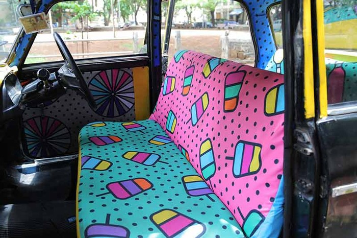 Chowpatty themed design by Shweta Malhotra for Taxi Fabric