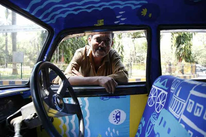 Tasneem Amiruddin's Jungle Book designs for Jayantbhai's taxi