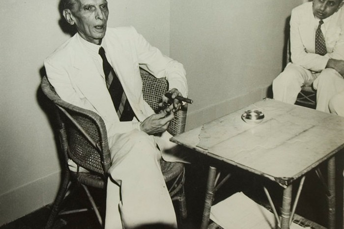 Jinnah at his last Press Conference before leaving for Pakistan; August 1947, Image Source: Homai Vyarawalla Archives, Alkazi Collection of Photography