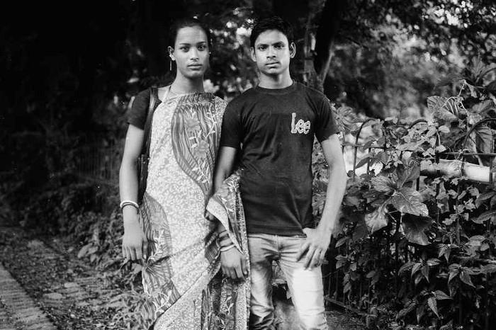 Sonali with her boyfriend