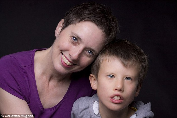 Ceridwen Hugh with her son Isaac.
