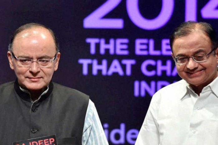BJP's Arun Jaitley and Congress' P. Chidambaram at the Times LitFest