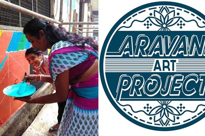 Aravani Art Project logo designed by Sadhna Prasad