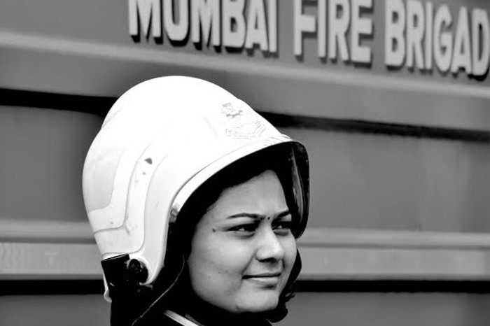 "The first question I asked her was ""do you have different duties because you are a woman"" to which she promptly replied, ""In a uniform, there is no man or woman, we are saving lives and work as a team"". Fighting fire is a mental game, when every civilian is running out, they are the only ones that chase the flames and jump in. She was very shy during our initial interactions but every time we spoke about a rescue mission, there was a complete shift in her body language. She had fire within, her eyes sparked, her voice was that of a warrior and her courage overpowered her personality."