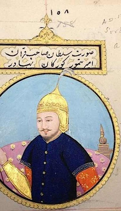 The Emperor Tīmūr (r.1370-1405),  founder of the Timurid dynasty