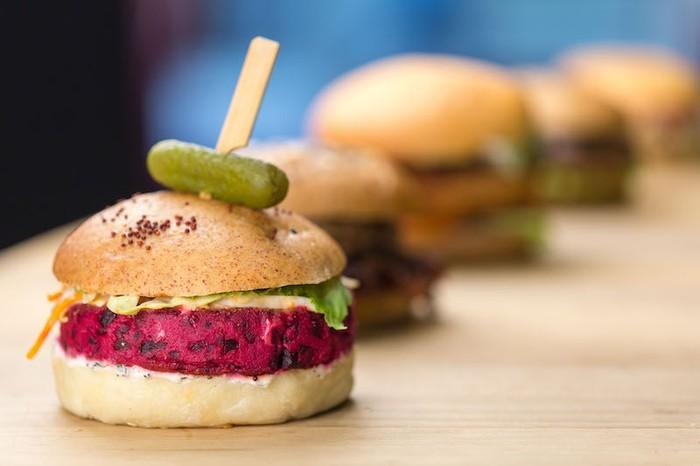 Roasted Beet Burger at Craft Deli Bistro Bar