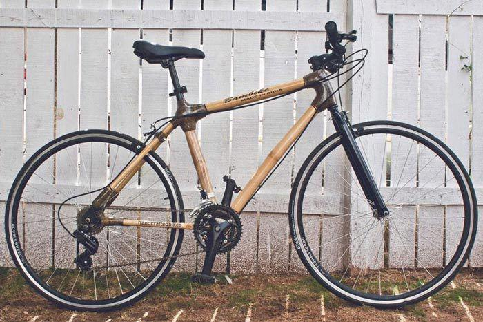 The Bamboo Bicycle made by Vijay