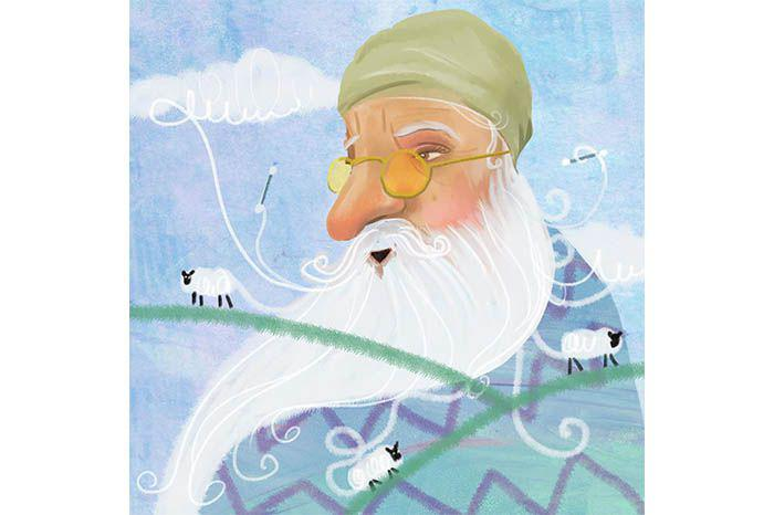 """The origin of clouds, cotton-buds and sheep. According to Baba, everything was born of and evolved from beard-fluff. ""There's a little beard-fluff in all of us"". He said. ""It's what makes our hearts so soft and wise""."""