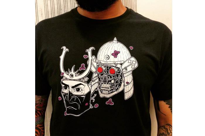 'Springtime Tsujigiri' T shirts. Source: Sahil Shah via Instagram