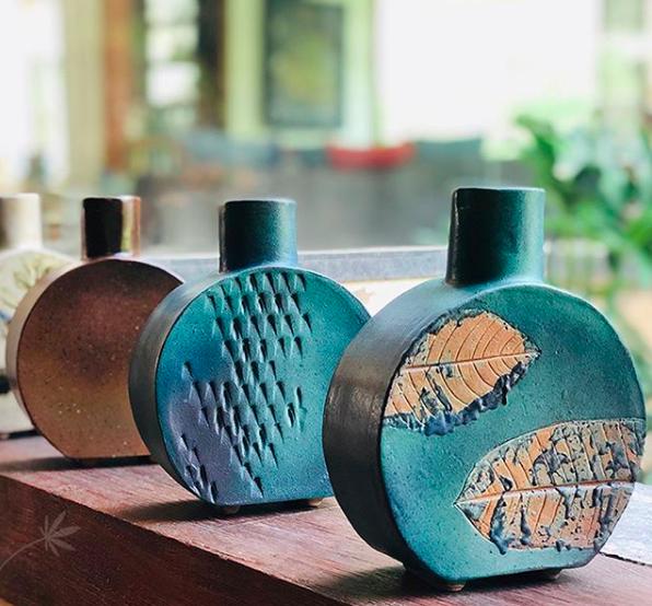 Moulded and delivered to you freshly out of the kiln. Credit - Aura Pottery Instagram