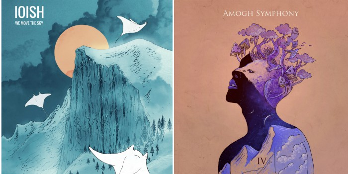 Saloni Sinha's visuals for IOISH (L) and Amogh Symphony(R)