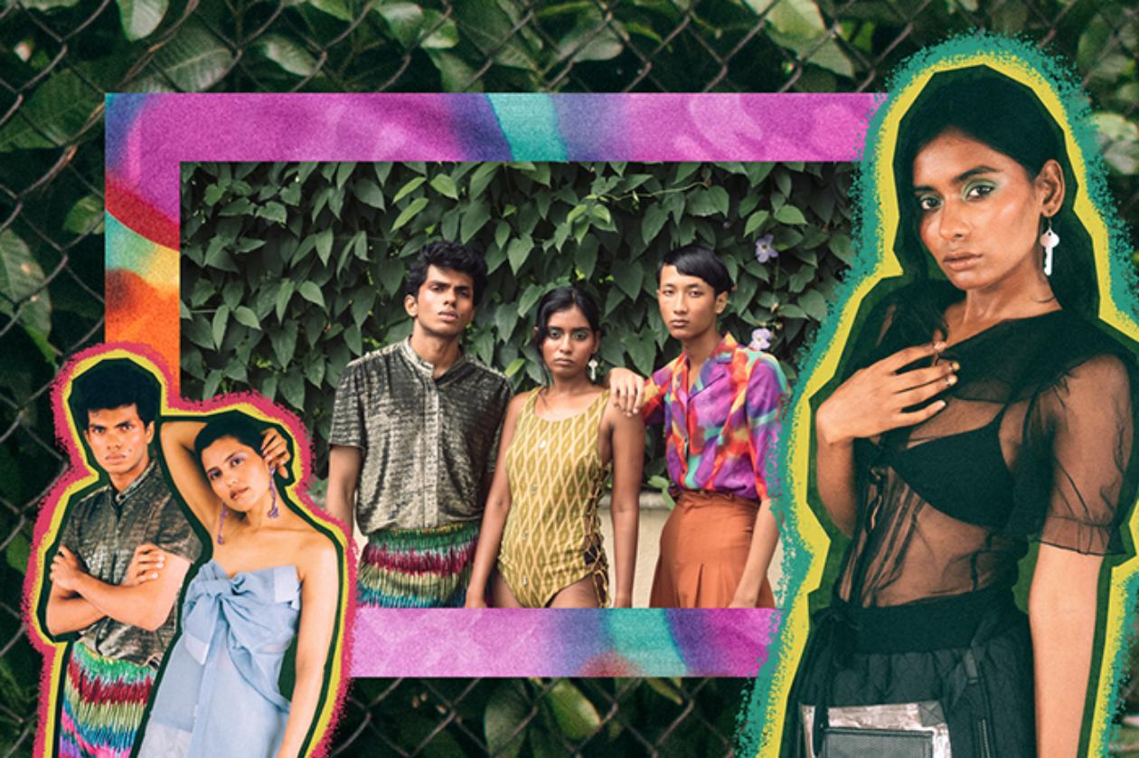 L-R: Joshua (shirt: DiscoVeryCulture; pant: Bobo Calcutta); Priya (dress: DiscoVeryCulture), Roselynn (bodysuit: The Ikat Story); Kangan (shirt: No Borders); Roselynn (top : Red Empress; Pants: Nought One) Photographed by Harshvardhan Shah (@ harshhy)