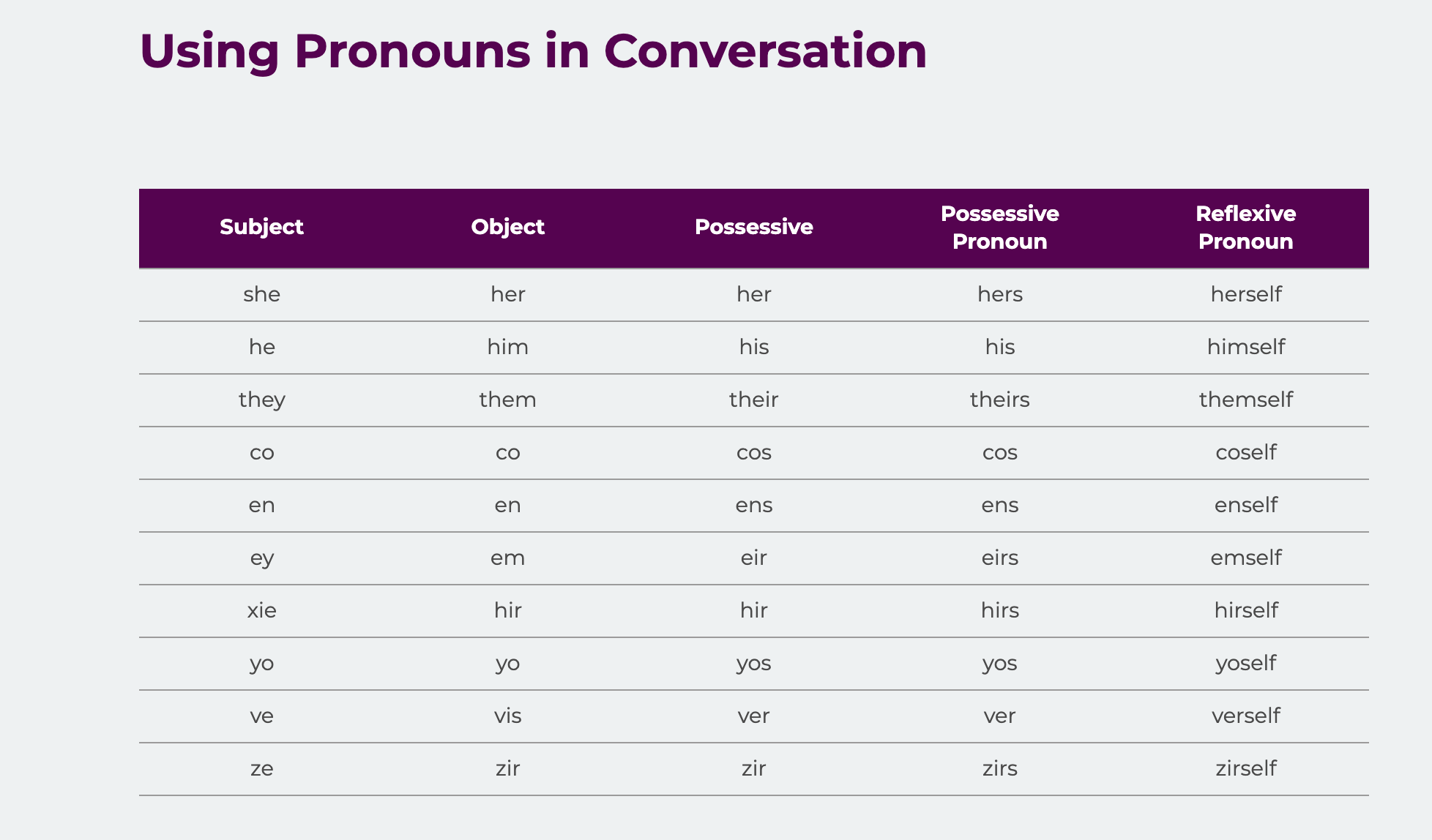 How To Use Pronouns Chart Guide