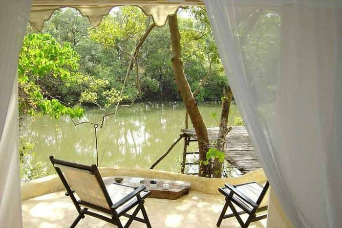 You can lounge on the decks and enjoy the serenity around you; Elsewhere, North Goa