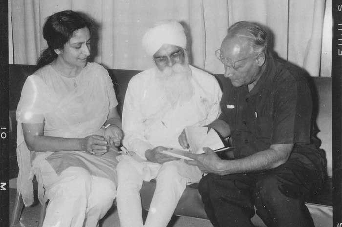 From the Panjab Digital Library: Stalwarts of Punjabi art and literature Amrita Pritam, Gurbaksh Singh Preetlari (centre) and Dr. MS Randhawa.
