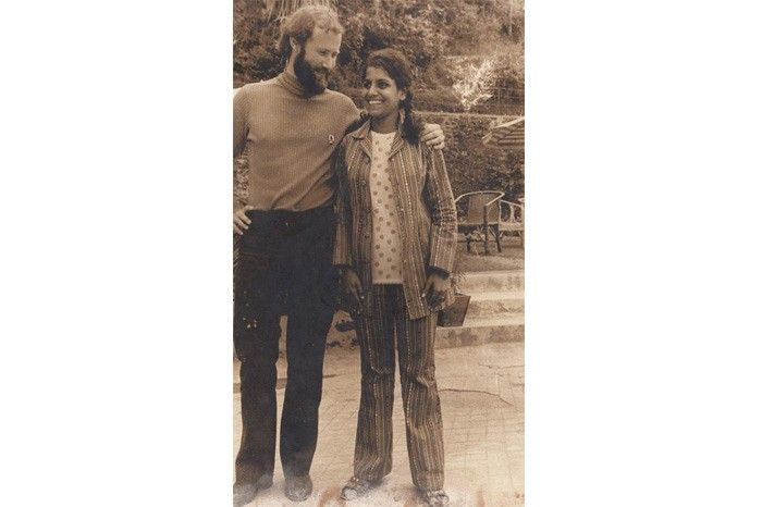 Deepali Sinha with pioneering British mountaineer Chris Bonington, a friend and a big influence.