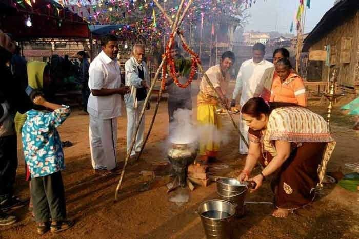 Pongal festivities, January 2016 in Moreh. Image Source: Tamil Sangam facebook page