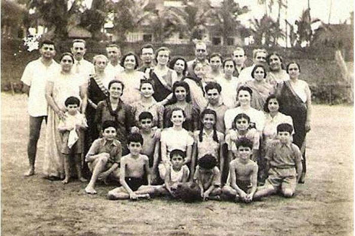 Our family and friends at Juhu Beach 1941
