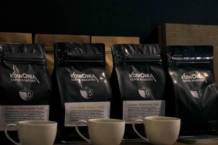 The four single estate brews available at Koinonia