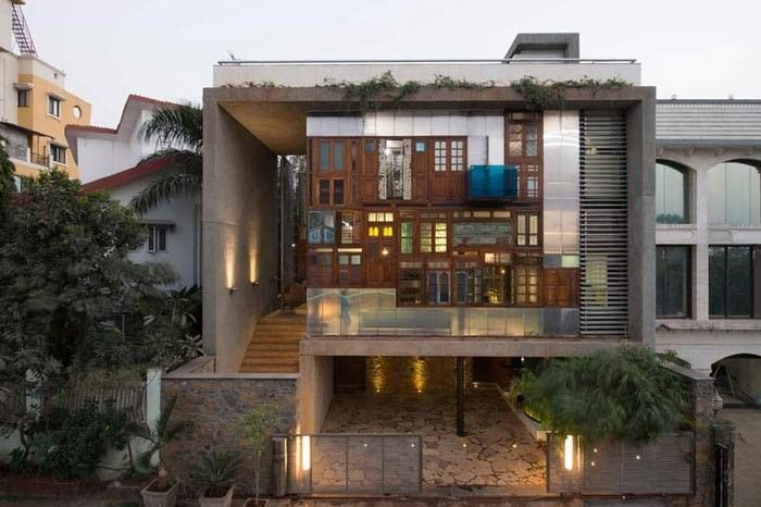 stunning navi mumbai house is a collage of recycled materials eco
