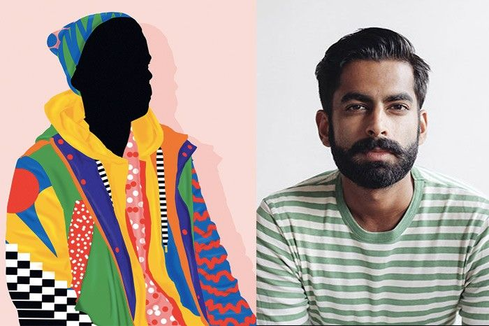 (Left) Self portrait by Karan Singh, (Right) Karan Singh, image source: Creative Market