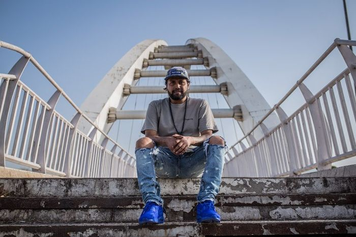 """Ardy Ghosh in his Airmax 90 Ultra BR """"Racer Blue"""" 