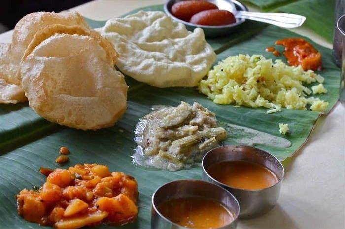 South Indian Thali at A. Rama Nayak & Sons
