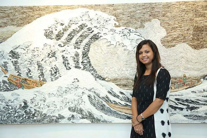 Sudipta Das with 'The Great Shift' Source: BLOUIN ARTINFO