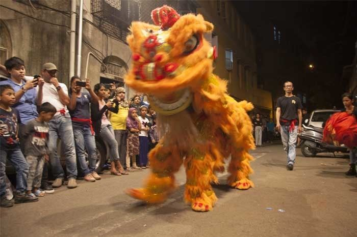 The Chinese Lion Dance. Photo by: Rashi Arora