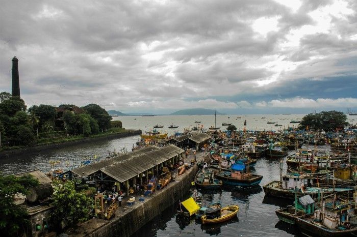 The usual sight as Sassoon Docks. Photograph by: Pranav Gohil