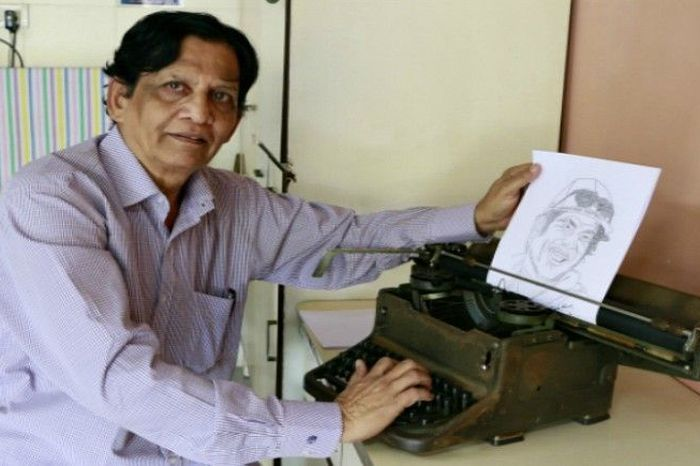 One Unlikely Mumbai Artist 'Draws' Portraits With His Typewriter - Homegrown