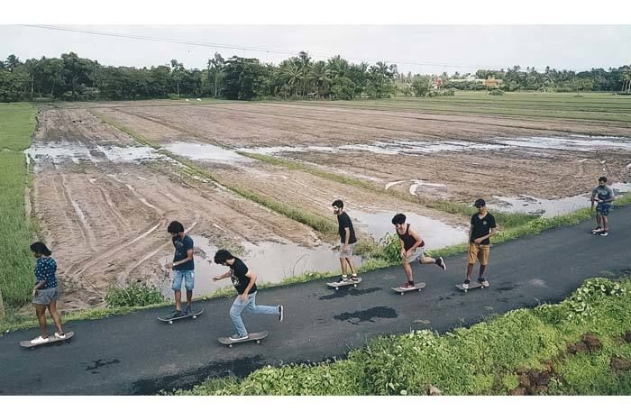 Goa's Skating Community. Image Source: Antonio Pacheco.