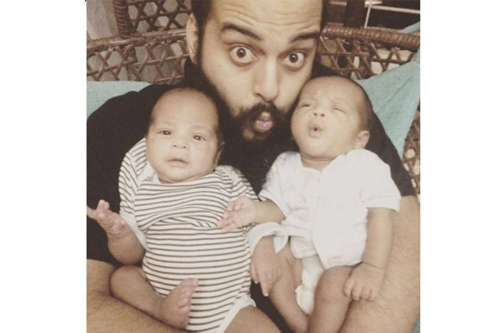 Lahar Joshi with his children