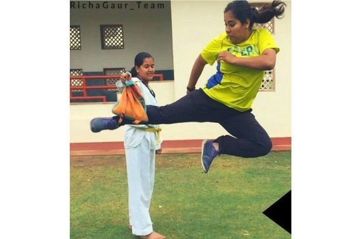 Richa Gaur in one of her training sessions