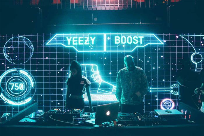 DJ Uri and Paperqueen Performing at The Yeezy Boost Launch in Khar Social