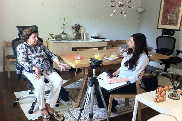 Guneeta Singh Bhalla interviews Pervin Ali in Lahore. Image Credit: The 1947 Partition Archive.