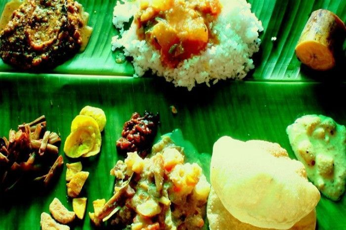 Onam Sadhya at Kerala House. Image Source: Indian Express