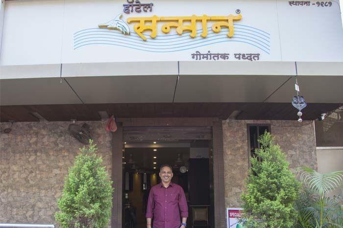 Mangesh Mhatre, Owner of Hotel Sanman. Image Credit: Rashi Arora