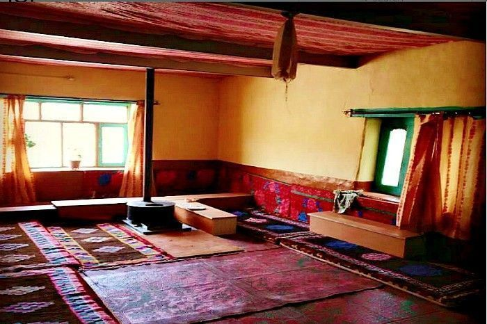 The interiors of a typical house in Spiti