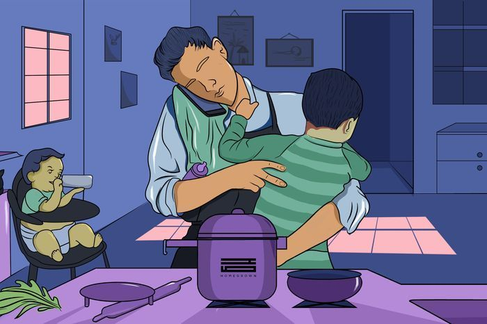 Image result for stay-at-home dad india