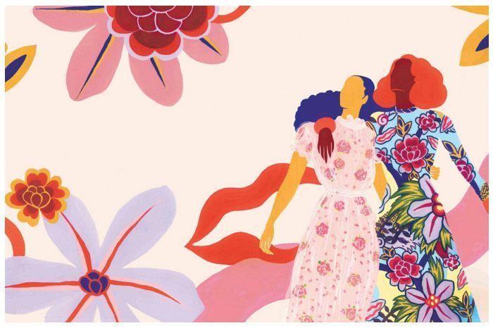 Sudeepti Tucker's illustrations for  Elle India x Rupi Kaur Jan'18 issue. Source - Elle India