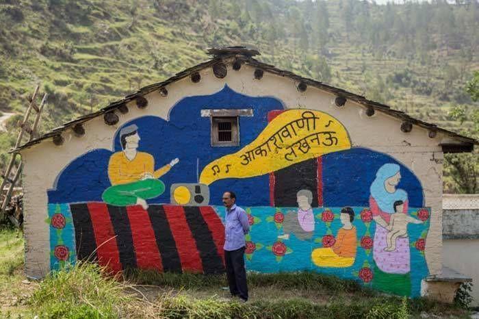 The Akashvani Lucknow mural. Image Credit: Vibhor Yadav