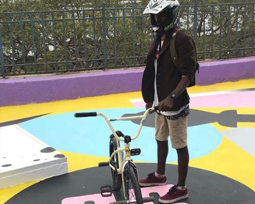 bmx cycling at carter road skatepark