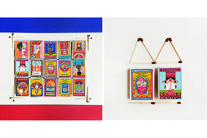 Miniature Matchboxes designed by Shweta Sharma in collaboration with artisans from Jaipur